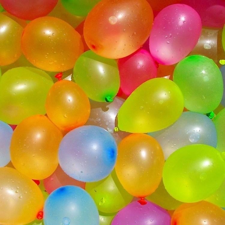 750x Waterballonnen/waterbommen gekleurd voor kinderen