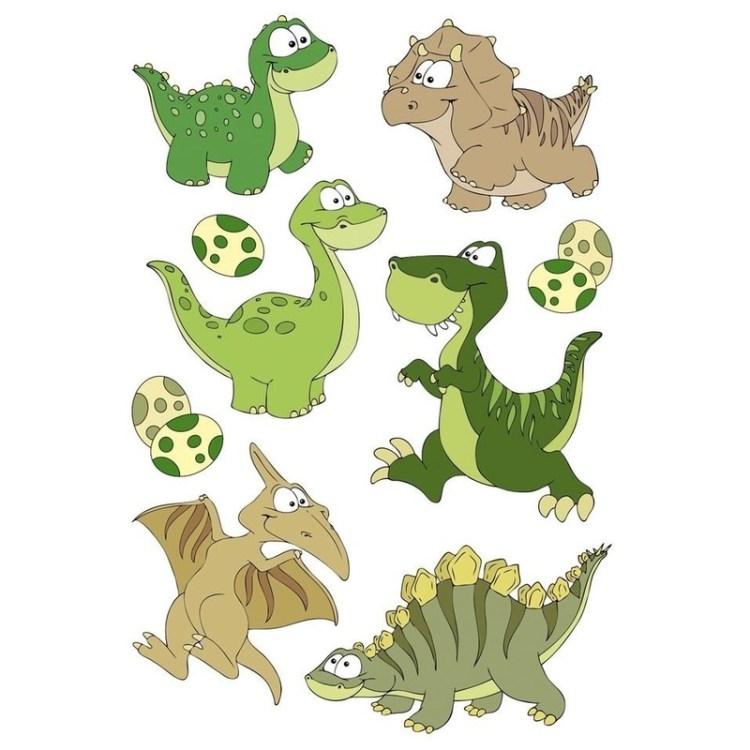 9x Dinosaurus dieren stickers met 3D effect met wiebeloogjes
