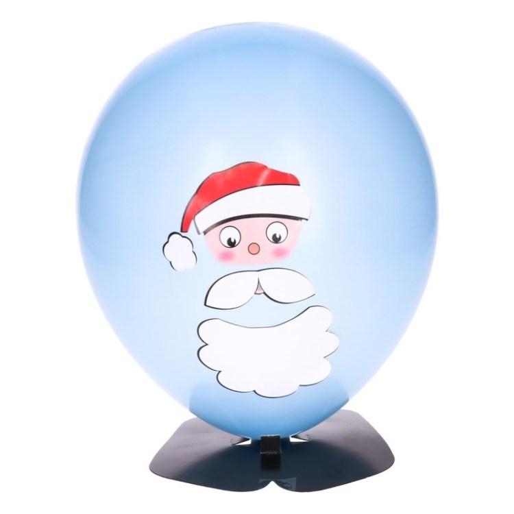 DIY Kerstman ballon maken 27 cm