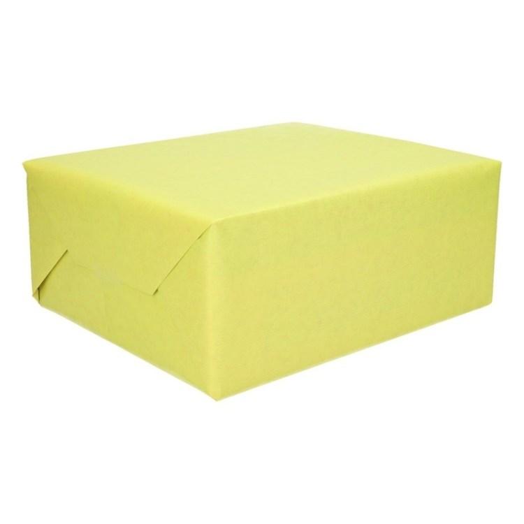 Inpakpapier dubbelzijdig groen/roze 200 x 70 cm