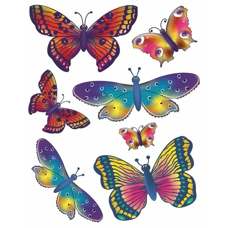 Kinderkamer raamdecoratie sticker vlinder