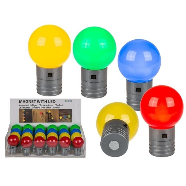 LED lamp magneten blauw