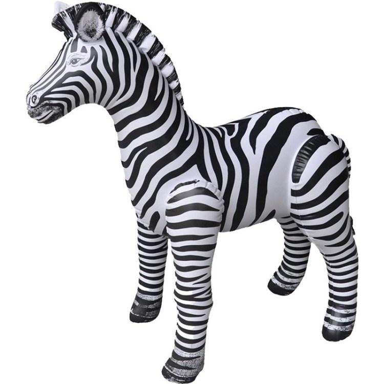 Opblaasbare zebra 80 cm decoratie/speelgoed