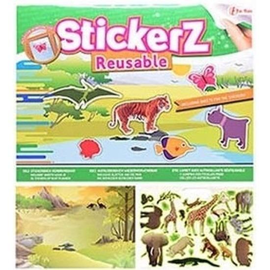 Raamdecoratie stickers wilde dieren