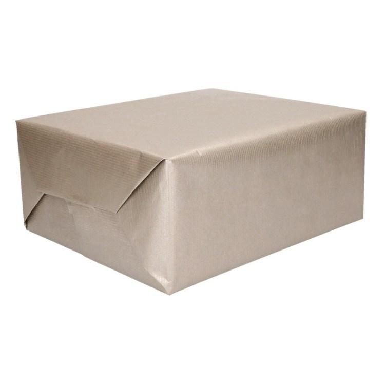 Zilver kraftpapier op rol 200 cm