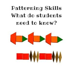 Teaching pattern in kindergarten