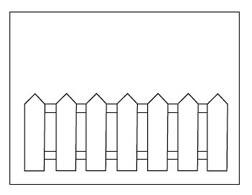 Halloween math fence