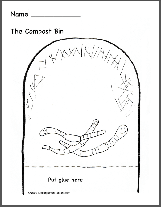 Please Compost Coloring Page - Twisty Noodle