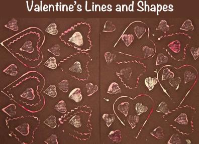 Line Art Valentine : Line & shape valentine's art kindergarten lessons
