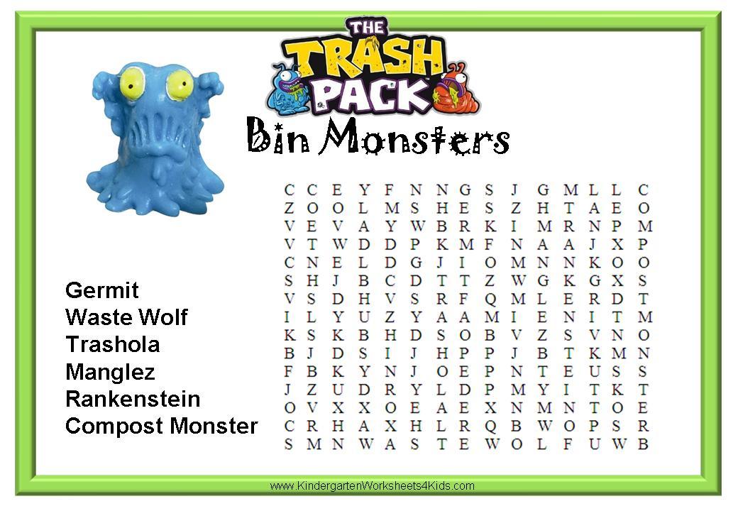 The Trash Pack Worksheets