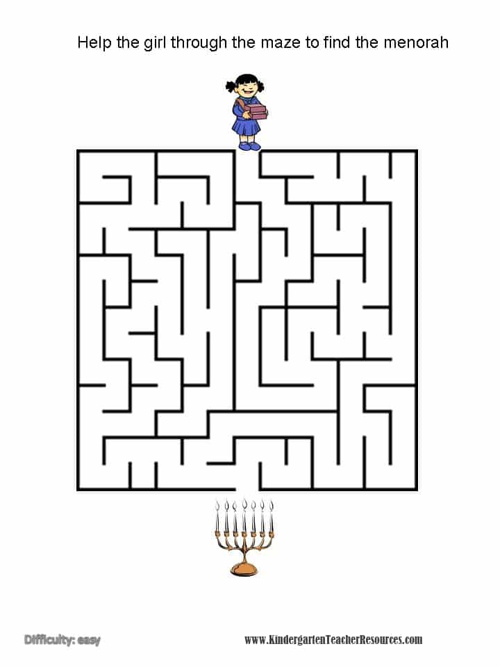 Hanukkah Kindergarten Worksheets Kindergarten Teacher