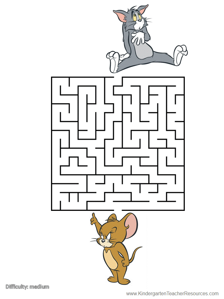 Printable Mazes With Tom And Jerry