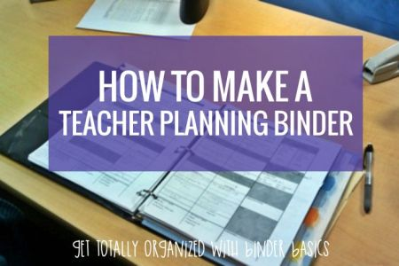 How to Make a Teacher Planning Binder  Binder Basics     How to make a teacher planning binder the easy way