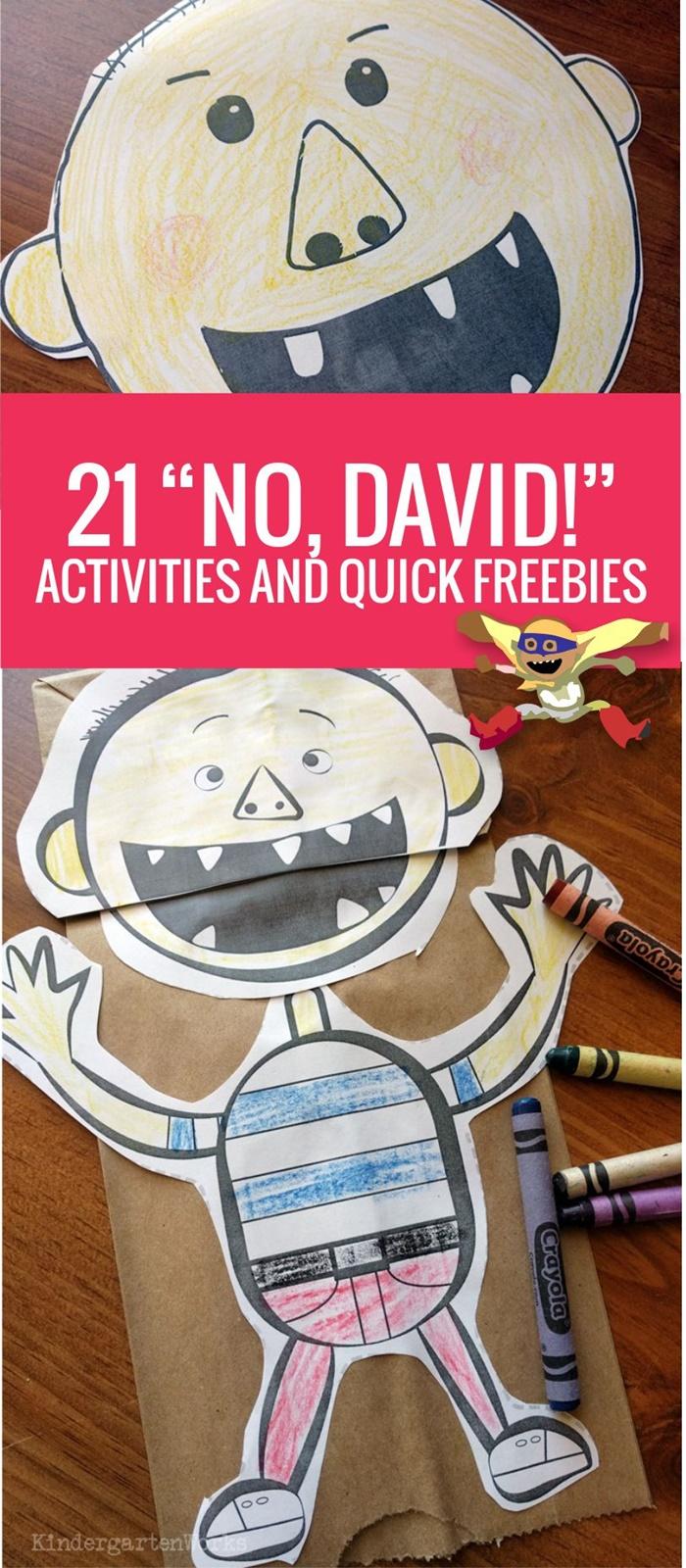 No David Activities Kindergarten