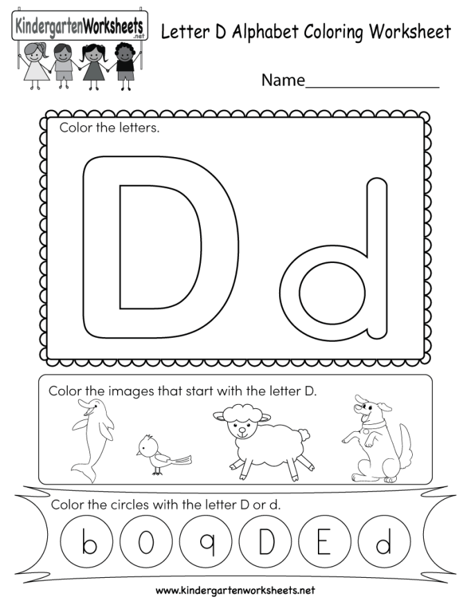 Free printable worksheets for kindergarten letter d textpoems free printable letter d coloring worksheet for kindergarten thecheapjerseys Image collections
