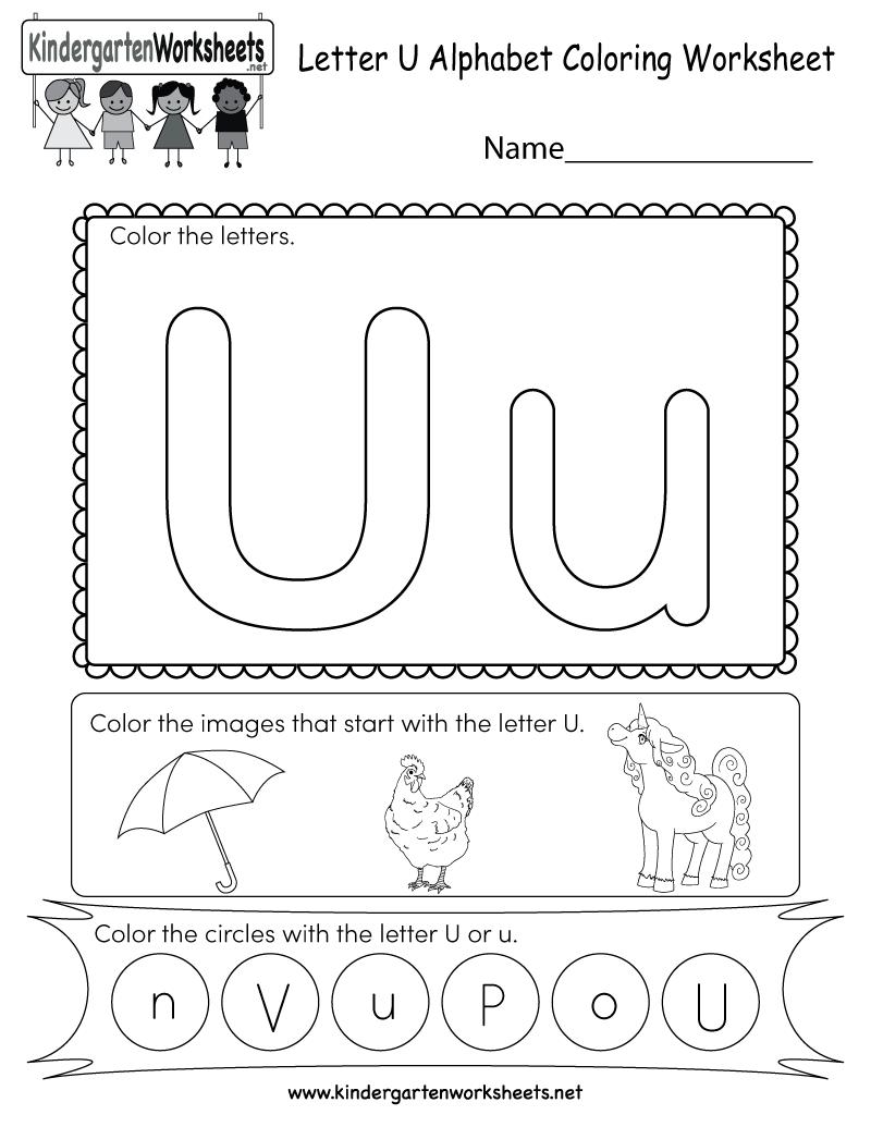 Letter U Coloring Worksheet