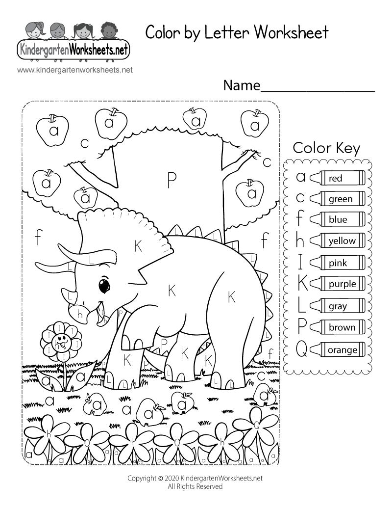Coloring Worksheet Free Kindergarten Learning Worksheet For Kids