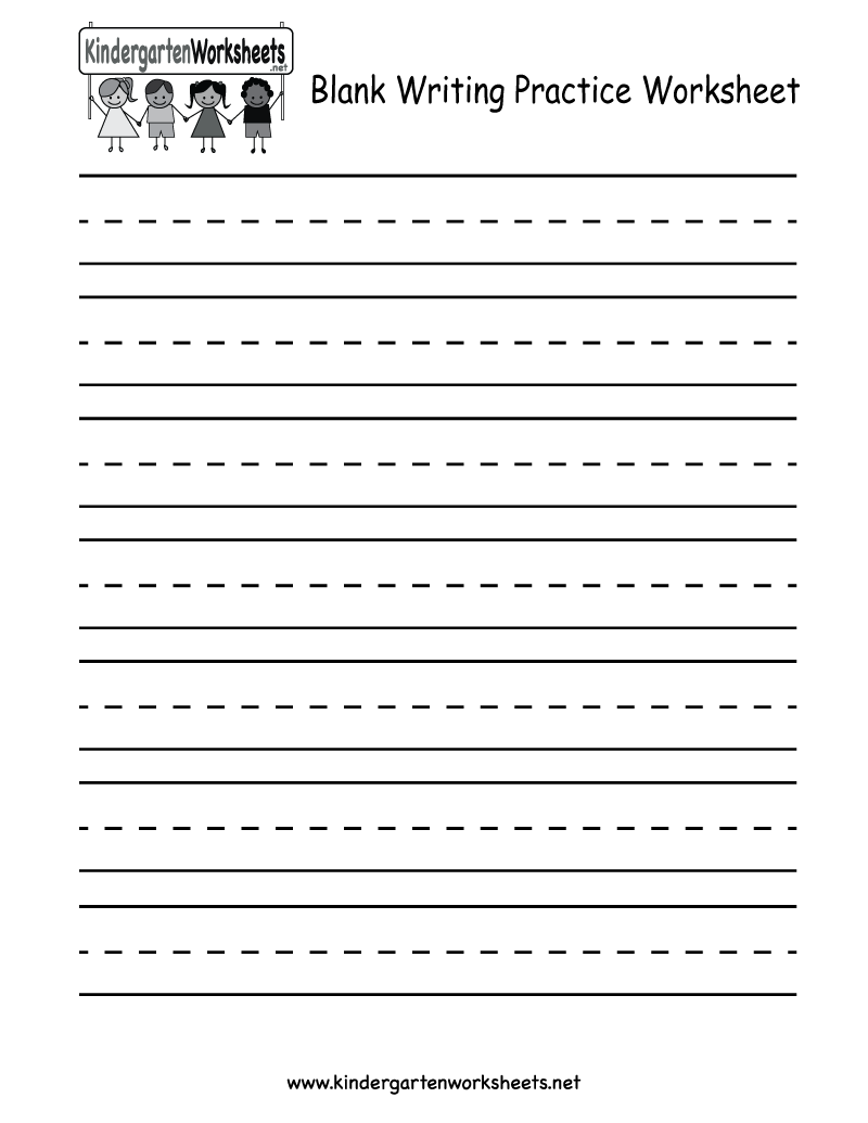 Blank Writing Practice Worksheet