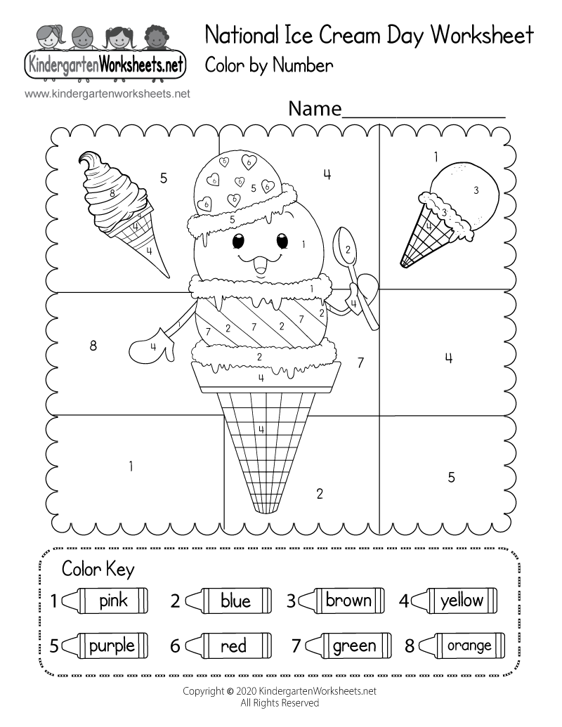 Free Printable National Ice Cream Day Worksheet For