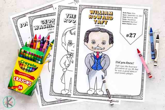 🦅 FREE Printable President Coloring Pages w/ Interesting Facts