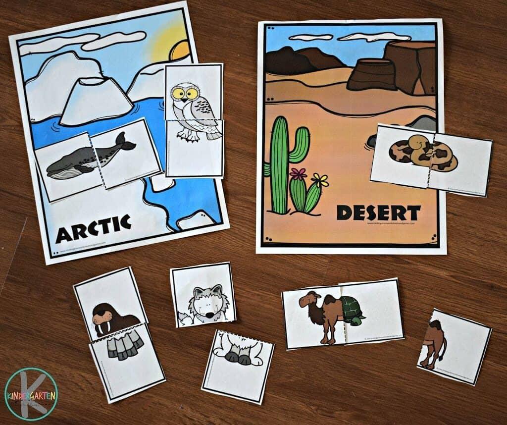 Animal Habitats Activity With Animal Cookies Kindergarten Worksheets And Games