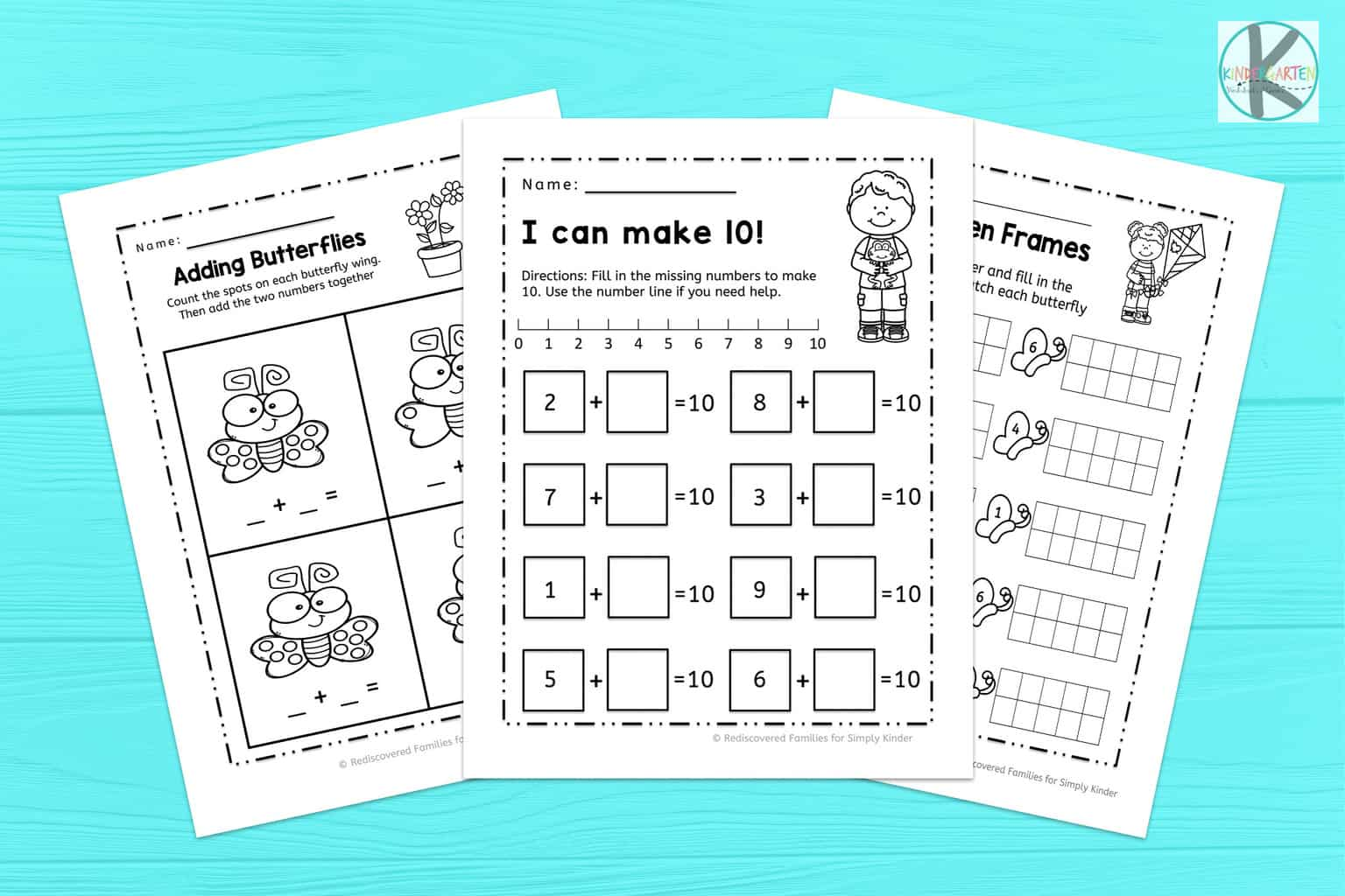 Addition Facts To 10 With Pigs In The Mud Kindergarten