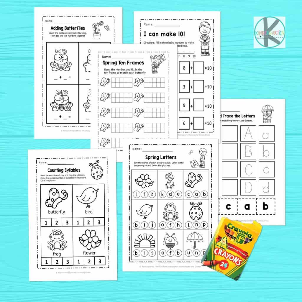 Free Kindergarten Spring Worksheets Kindergarten