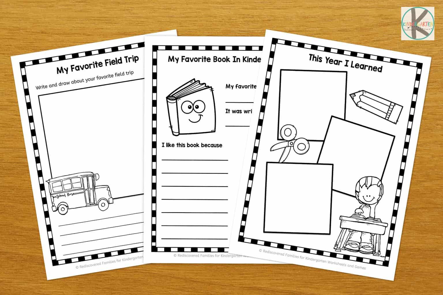 Free Kindergarten Memory Book