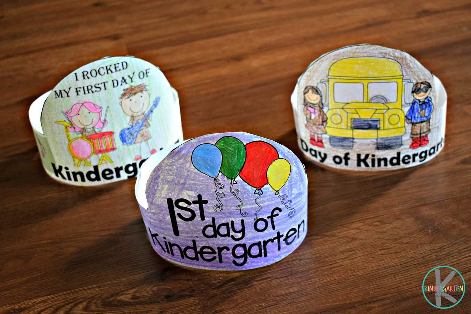 First Day Of Kindergarten Printable Hats Kindergarten