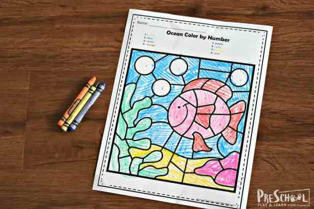 FREE Ocean Color by Number