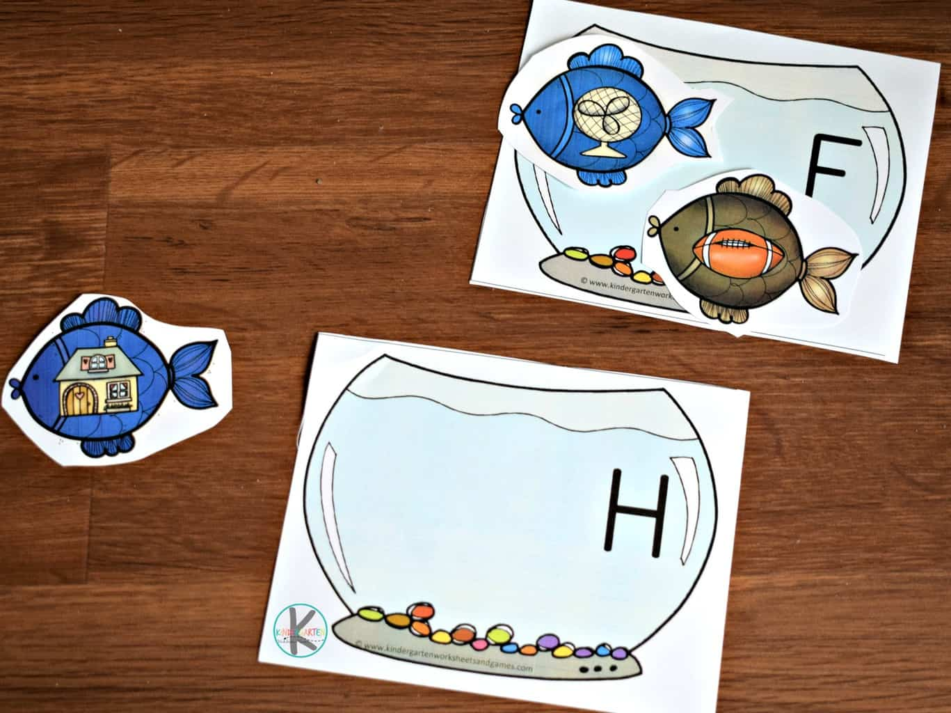 Fish Phonics Activity Kindergarten Worksheets And Games