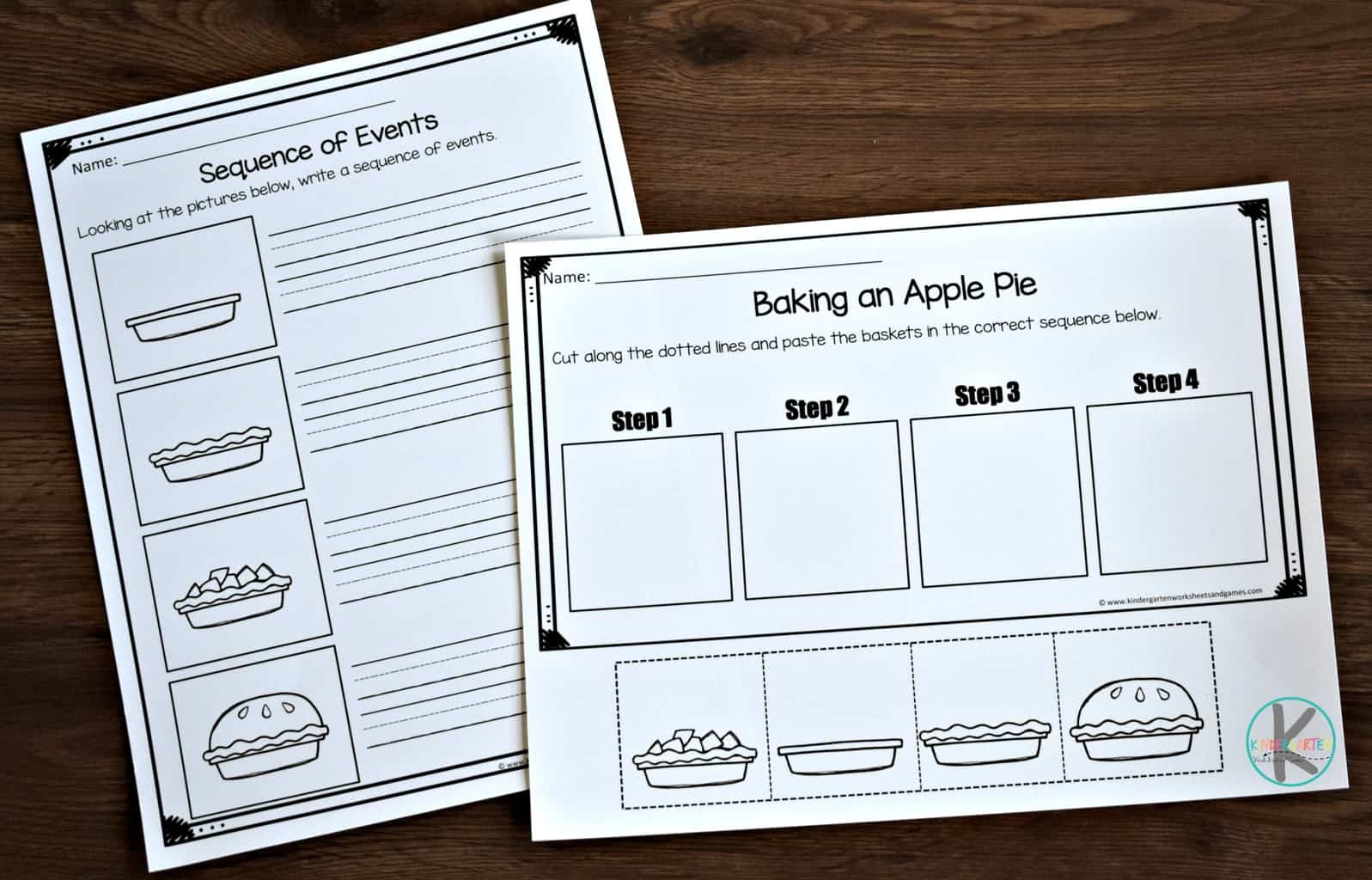 Thanksgiving Sequence Worksheet For Preschoolers