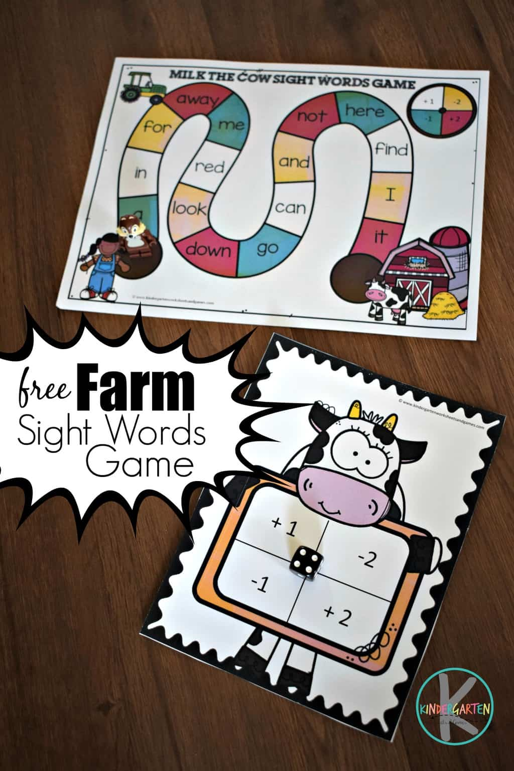 Farm Kindergarten Sight Words Games Kindergarten