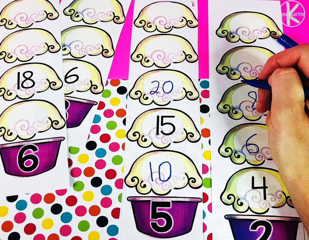 Free Sundae Skip Counting Activity