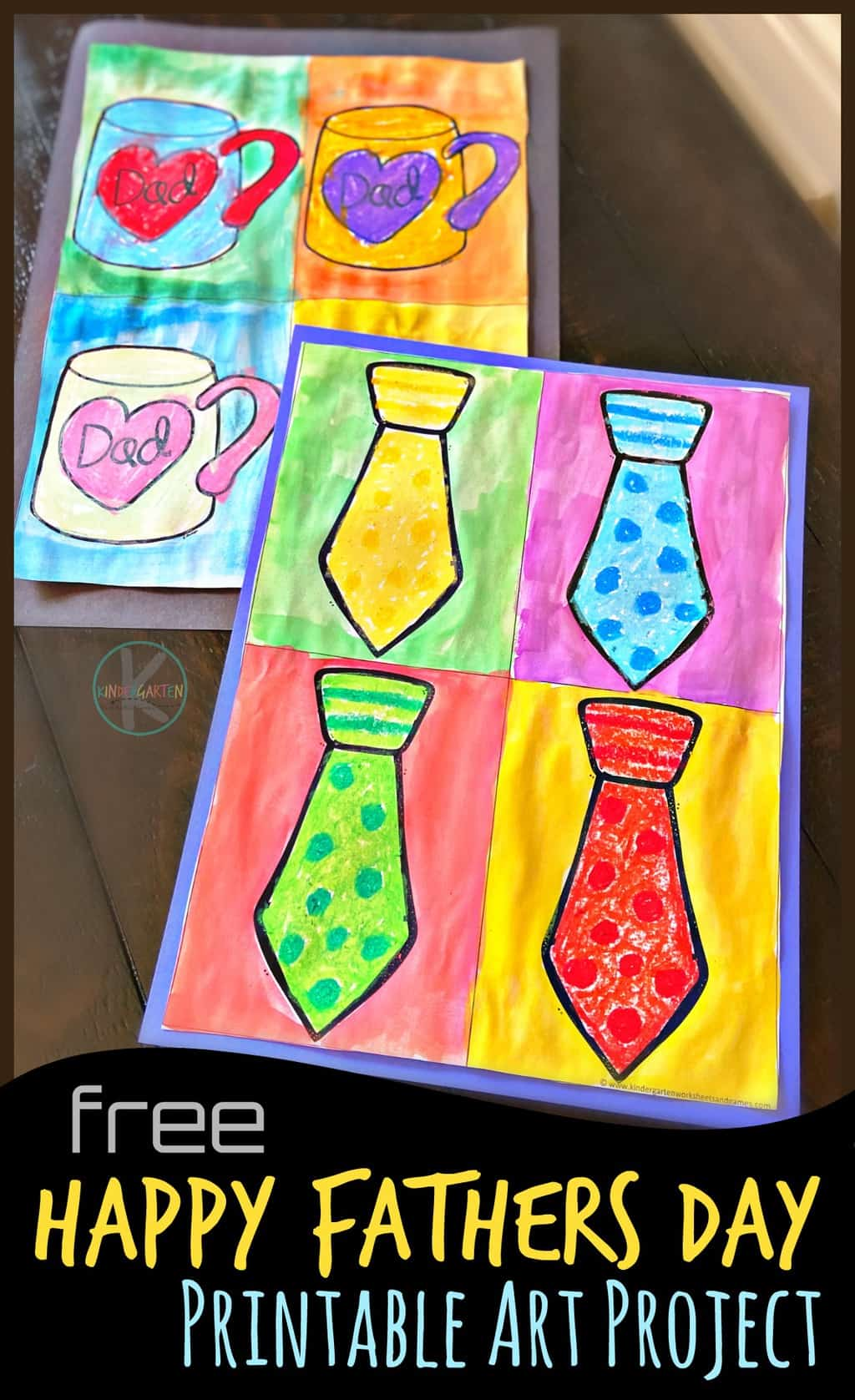 Andy Warhol Fathers Day Crafts For Kindergarten