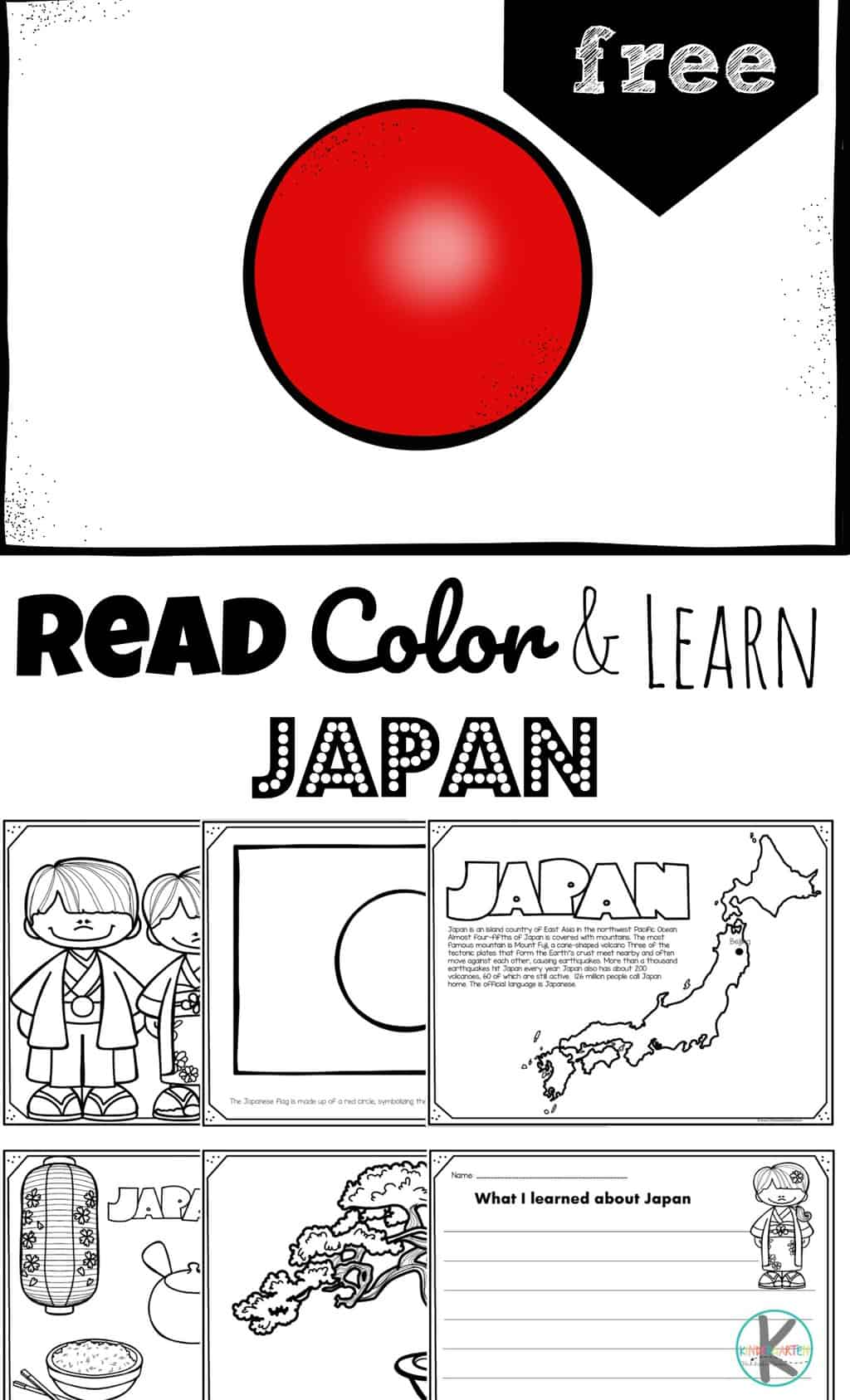 Free Read Color And Learn About Japan