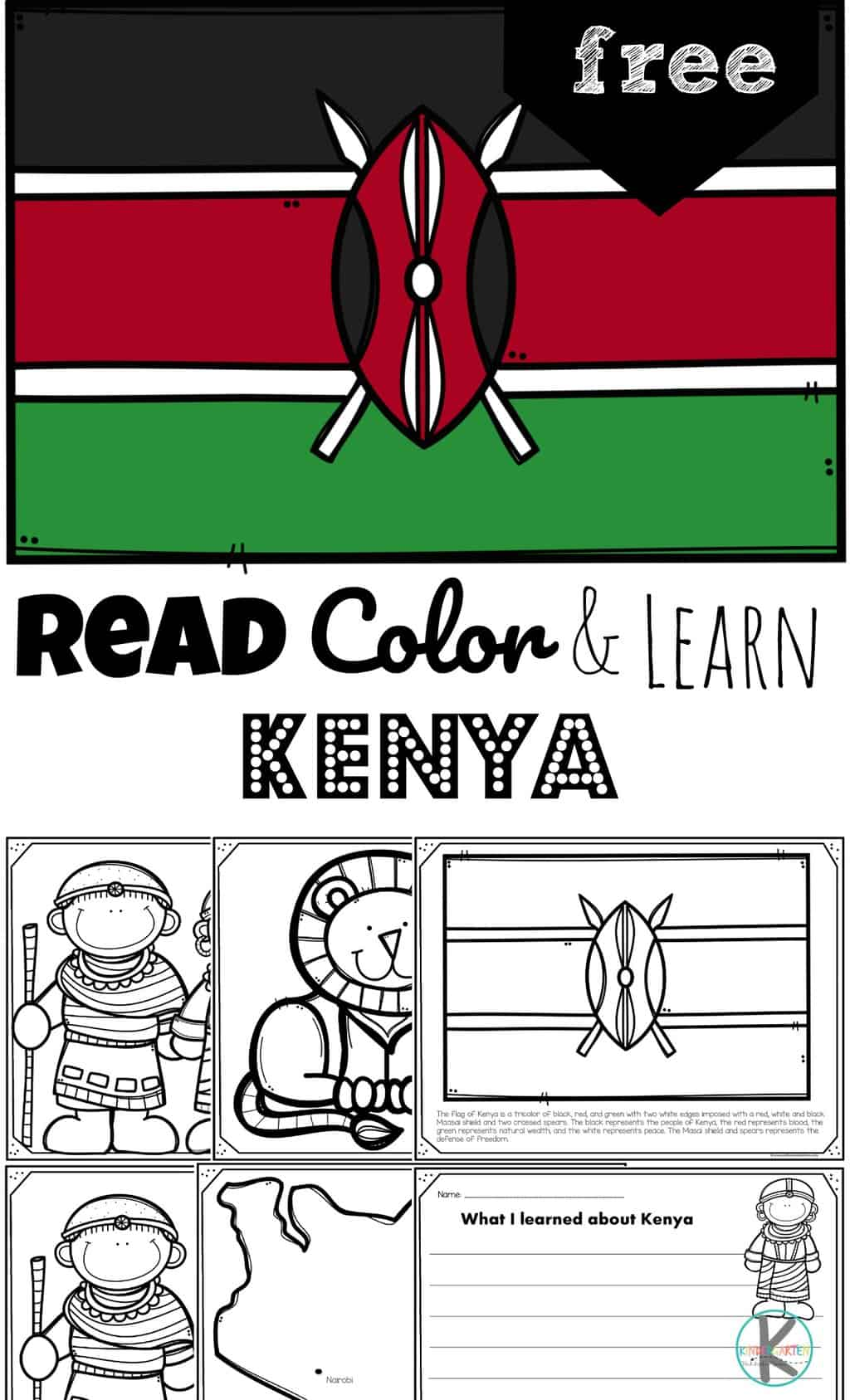 Free Read Color And Learn About Kenya
