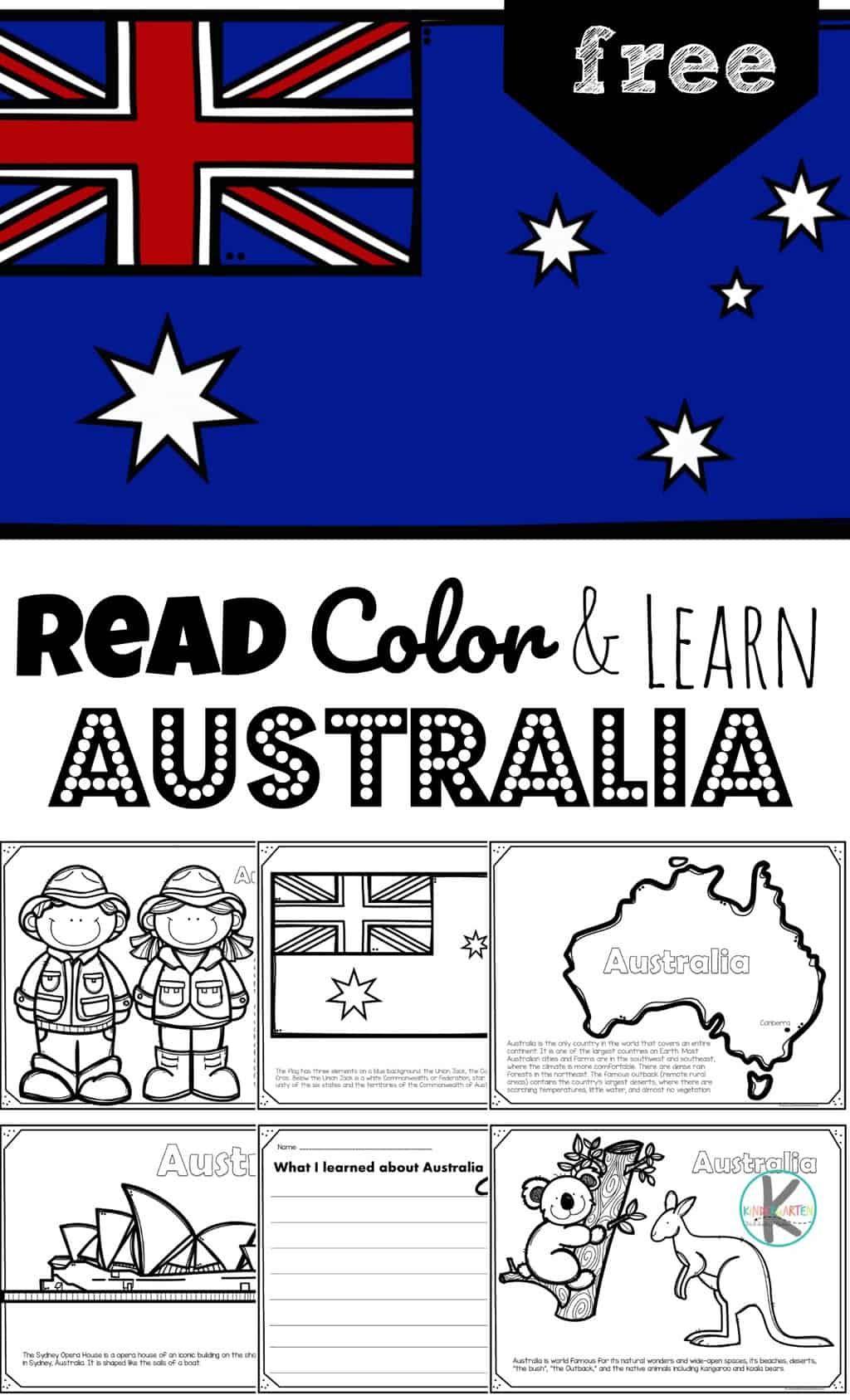 Read Color And Learn About Australia
