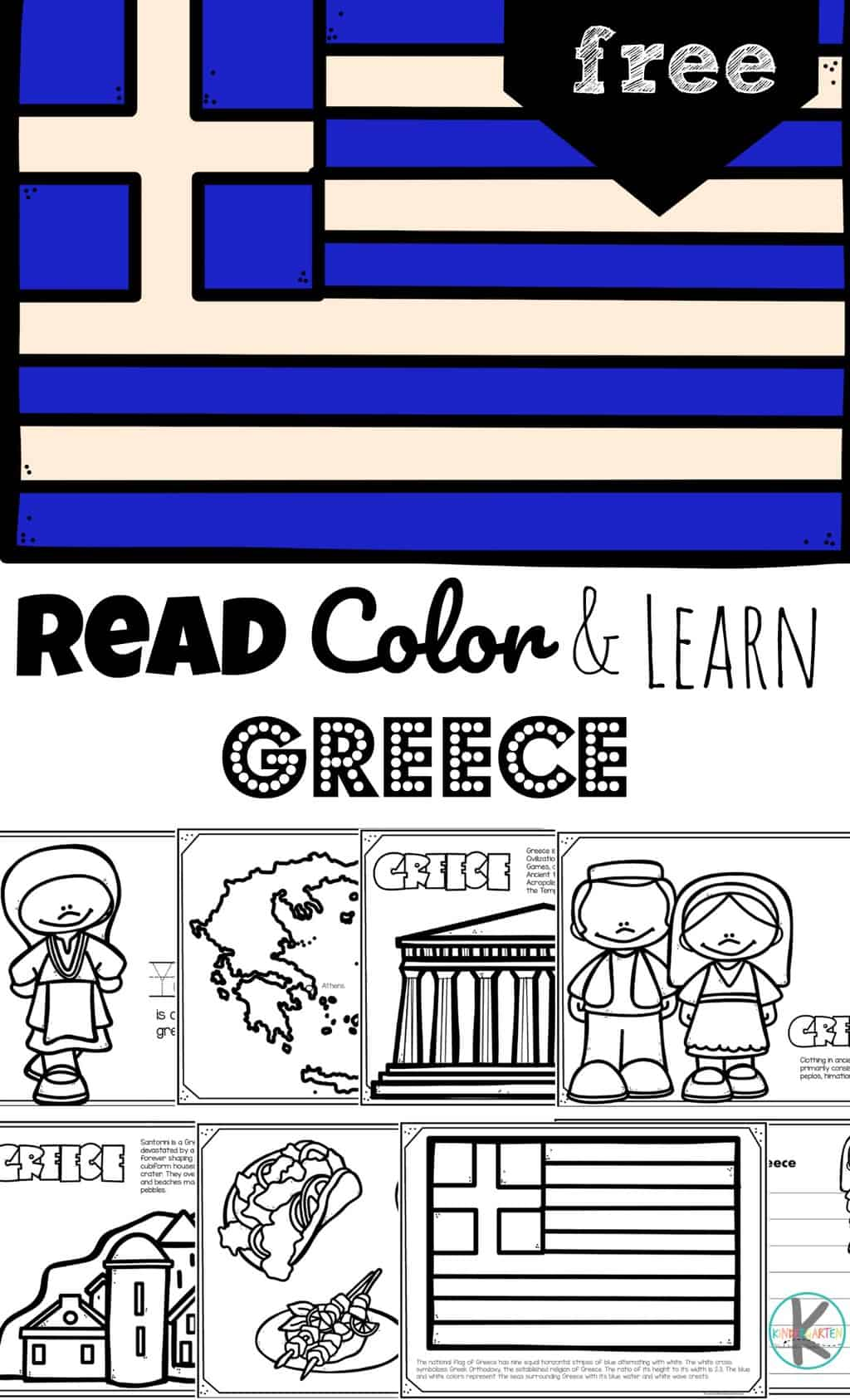 Read Color And Learn About Greece