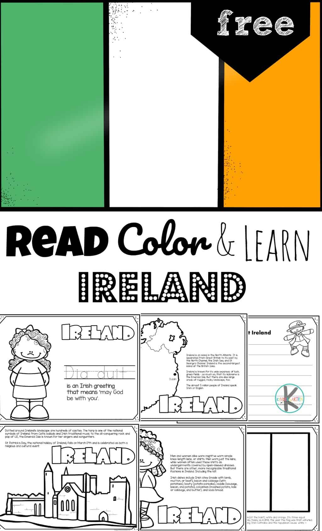 Free Ireland Coloring Pages For Kids