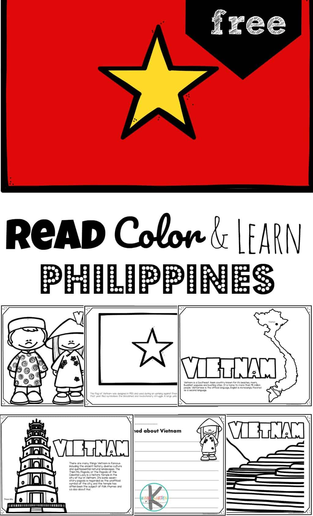 Free Read Color And Learn About Vietnam For Kids