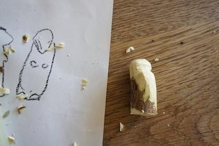 Langsam nimmt das Murmeltier Gestalt an.  Foto (c) Kinderoutdoor.de