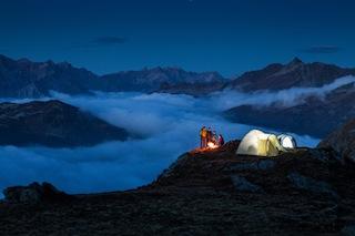 Zelten auf über 2.000 Metern Höhe in Silvretta-Montafon. Kein Wohnwagen weit und breit! Foto (c) Silvretta Montafon, Daniel Zangerl