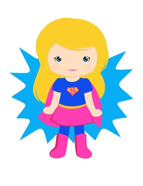 supergirl cartton