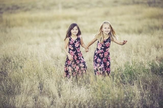 sisters in field