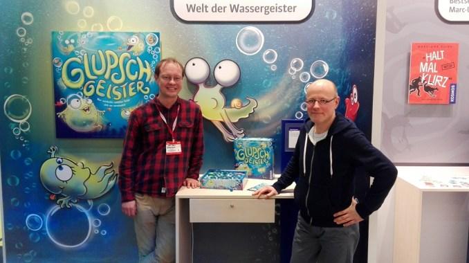 Bild Kosmos, Herr Schliemann (links) und Herr Weber (rechts)
