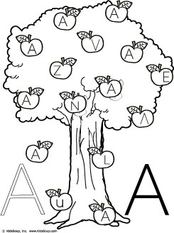 On The Apple Tree Letter A Recognition KidsSoup Resource