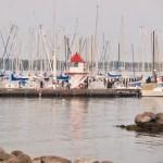 Mini-Leuchtturm am Yachthafen Mönkeberg - Mönkeberger Strand
