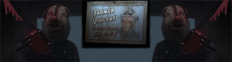 farmer vincent friters critters chainsaw pig
