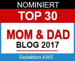 Nominiert für Top 30 Mom & Dad Blogs 2017